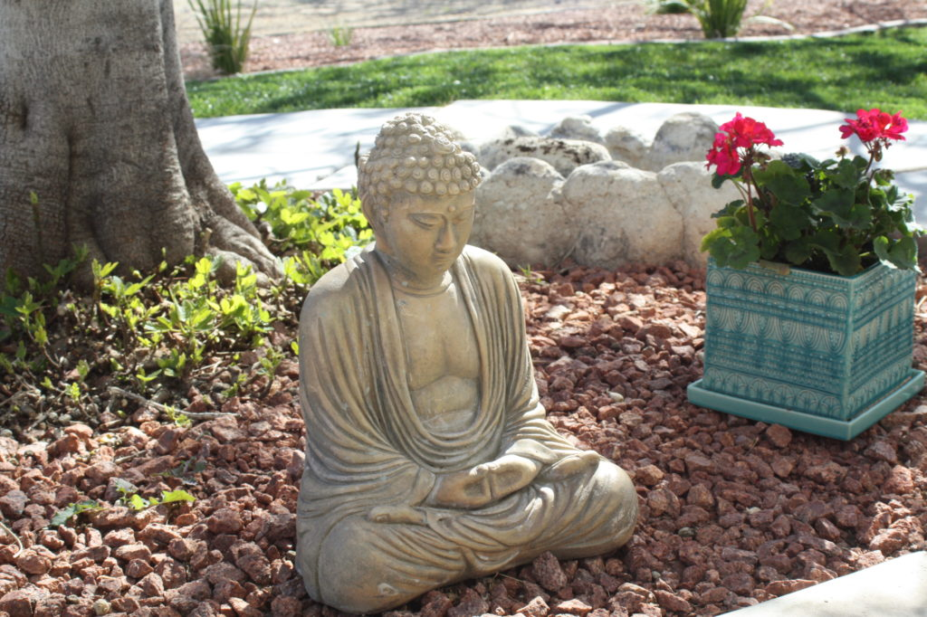 Calm buddha in garden